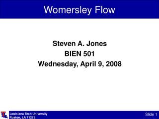 Womersley Flow