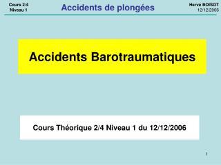 Cours Théorique 2/4 Niveau 1 du 12/12/2006
