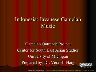 Indonesia: Javanese Gamelan Music