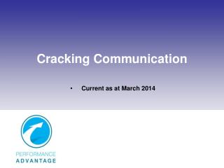 Cracking Communication