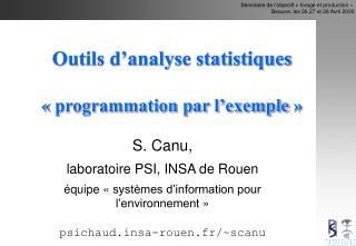 Outils d'analyse statistiques «programmation par l'exemple»
