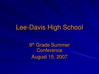 Lee-Davis High School