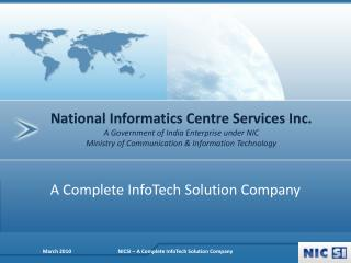 A Complete InfoTech Solution Company