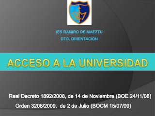 Real Decreto 1892/2008, de 14 de Noviembre (BOE 24/11/08)