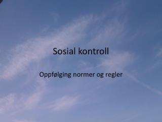 Sosial kontroll