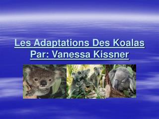 Les Adaptations Des Koalas Par: Vanessa Kissner