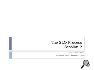 The SLO Process Session 2