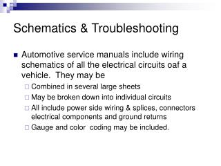 Schematics & Troubleshooting