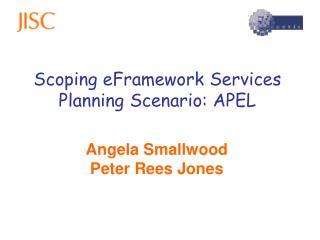 Scoping eFramework Services Planning Scenario: APEL