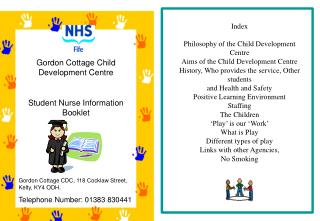 Gordon Cottage Child Development Centre Student Nurse Information Booklet