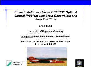 On an Instationary Mixed ODE/PDE Optimal Control Problem with State-Constraints and Free End Time