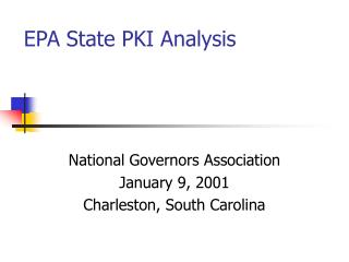 EPA State PKI Analysis
