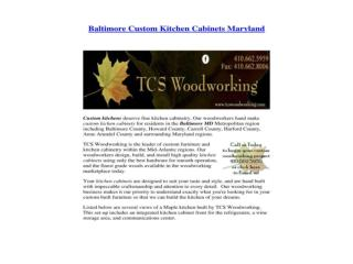 Baltimore Custom Kitchen Cabinets Maryland