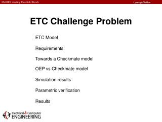 ETC Challenge Problem