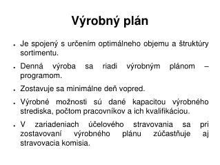 Výrobný plán