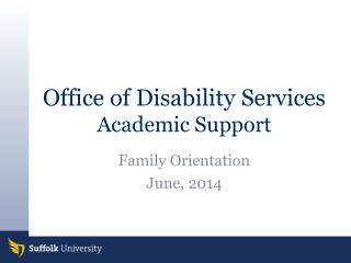 Office of Disability Services Academic Support
