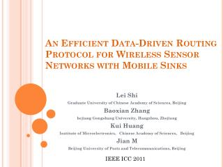 An Efficient Data-Driven Routing Protocol for  Wireless  Sensor Networks with Mobile Sinks