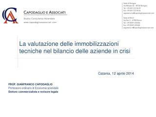 La valutazione delle immobilizzazioni tecniche nel bilancio delle aziende in crisi