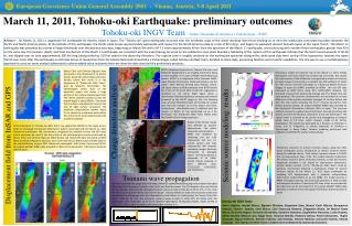 March 11, 2011, Tohoku-oki Earthquake: preliminary outcomes