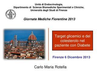 Target glicemici e del colesterolo nel paziente con Diabete
