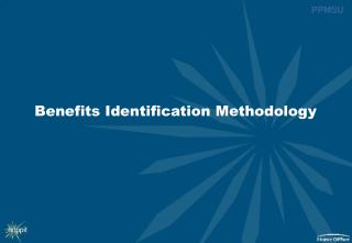 Benefits Identification Methodology