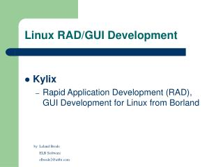 Linux RAD