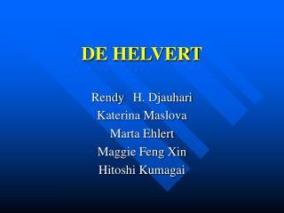 DE HELVERT