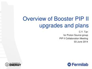 Overview of Booster PIP II upgrades and plans