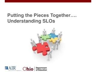 Putting the Pieces Together…. Understanding SLOs