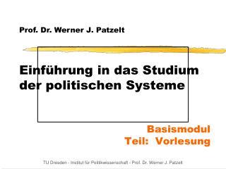 Einführung in das Studium der politischen Systeme