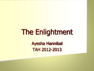 The  Enlightment