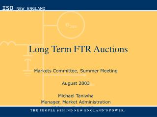Long Term FTR Auctions