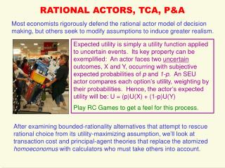 RATIONAL ACTORS, TCA, P&A