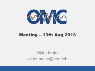 Viktor Maier viktor.maier@cern.ch