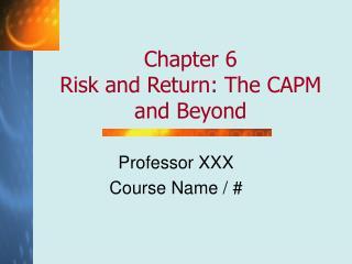 Professor XXX Course Name / #