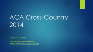 ACA Cross-Country 2014