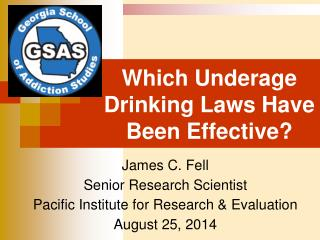 Which Underage Drinking Laws Have Been Effective?