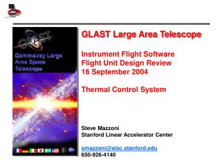 GLAST Large Area Telescope Instrument Flight Software  Flight Unit Design Review 16 September 2004