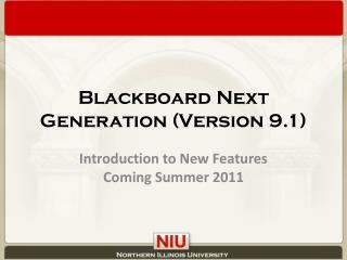 Blackboard Next Generation (Version 9.1)