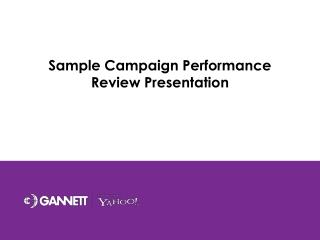 Sample Campaign Performance Review Presentation