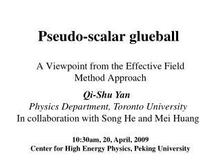 Pseudo-scalar glueball