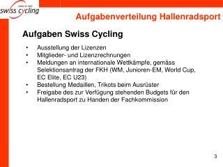 Aufgaben Swiss Cycling