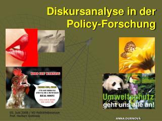Diskursanalyse in der Policy-Forschung