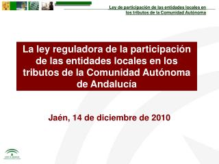 Jaén, 14 de diciembre de 2010