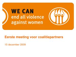 Eerste meeting voor coalitiepartners 15 december 2009