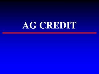 AG CREDIT