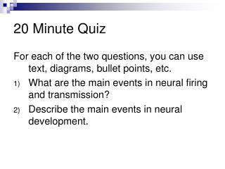 20 Minute Quiz