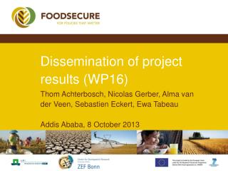 Dissemination of project results (WP16)