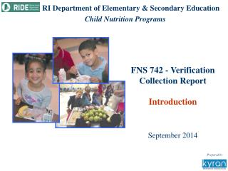 FNS 742 - Verification Collection Report Introduction September 2014