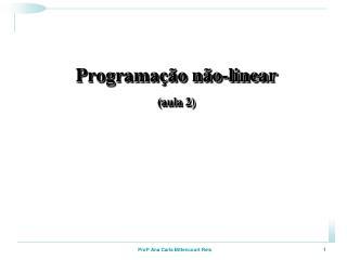 Programação não-linear (aula 2)